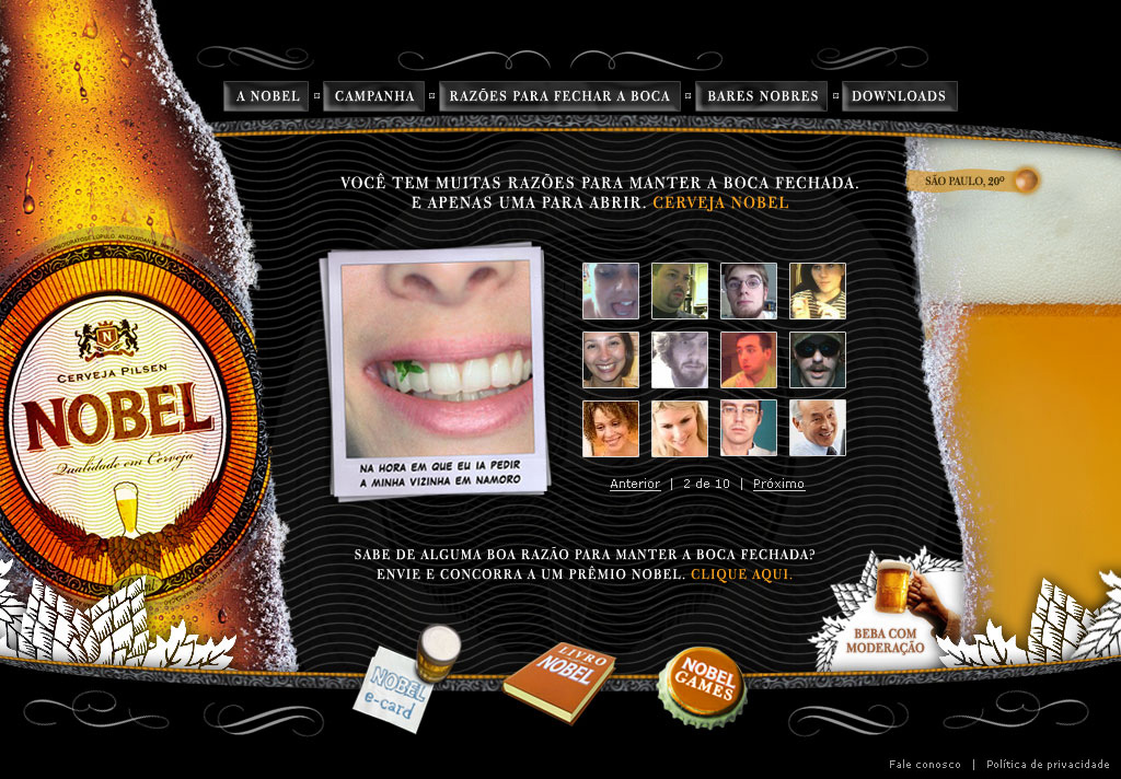 Nobel Brewery (website design)