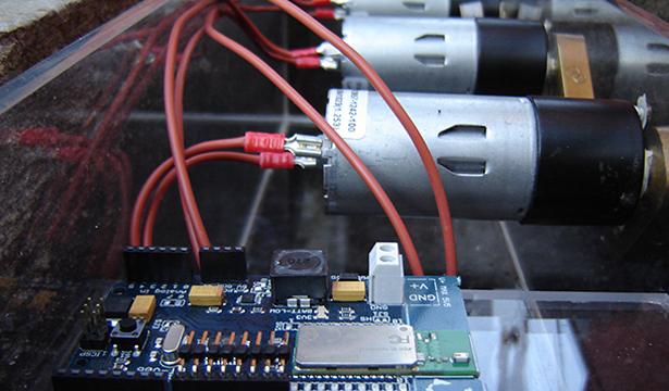 Projeto Amoreiras: mechanism, Arduino board