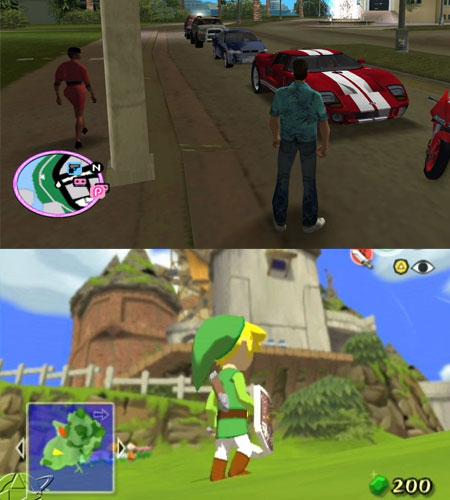Grand Theft Auto (topo) e The Legend of Zelda