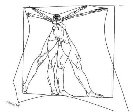 Vitruvius man (Charles Csuri, 1968)