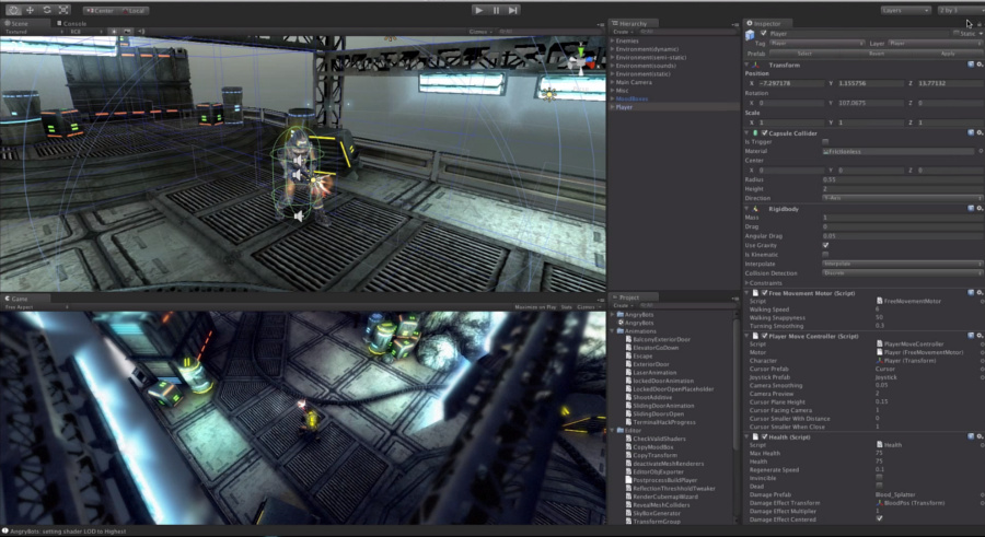 Unity 5: interface